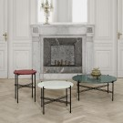 TS white marble table L