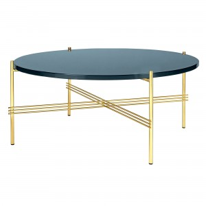 Table TS bleu gris/laiton L