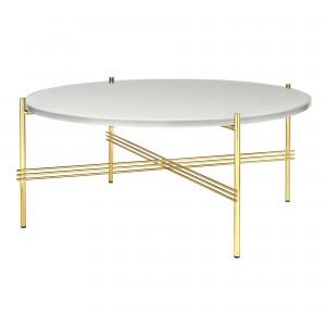 Table TS blanc/laiton L