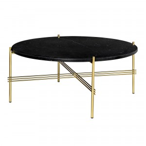 TS black marble/brass table L
