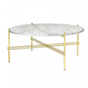 TS white marble/brass table L