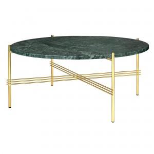 Table TS marbre vert/laiton L