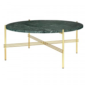 TS green marble/brass table L