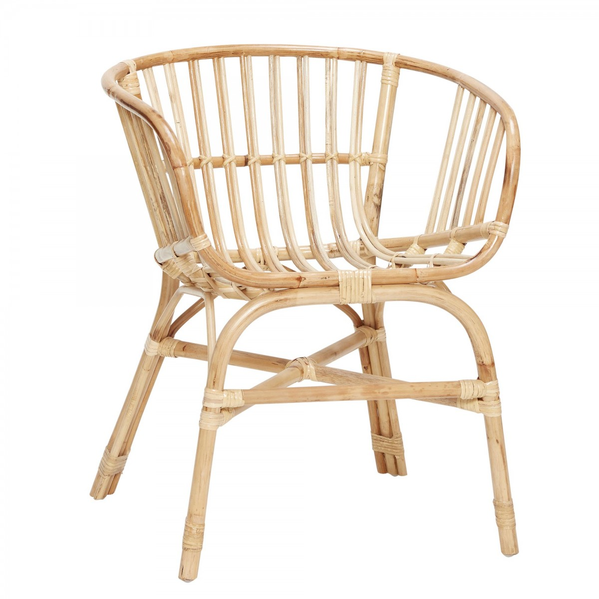 Natural Rattan Chair With Steel Base H BSCH