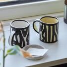 Wood mug white