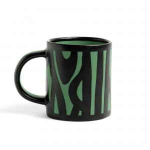 Wood mug dark green
