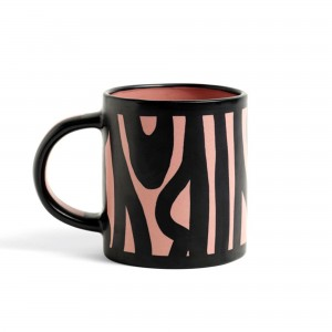 Wood mug pink
