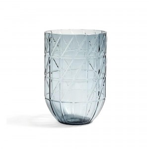 Colour vase blue L
