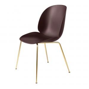 BEETLE dining chair - dark pink/brass