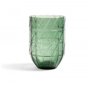 Colour vase green L