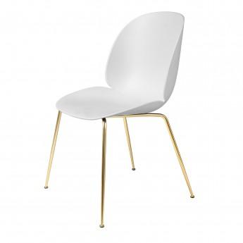 Chaise BEETLE - blanc/laiton