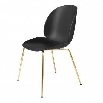BEETLE dining chair - black/brass