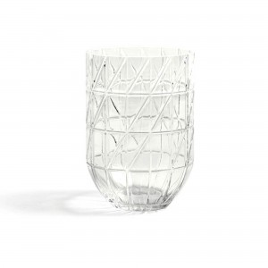 Colour vase transparent L