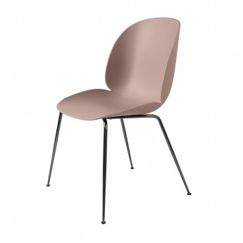 BEETLE dining chair - pink & black metal