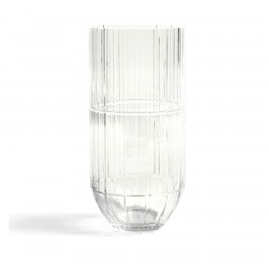 Colour vase transparent XL