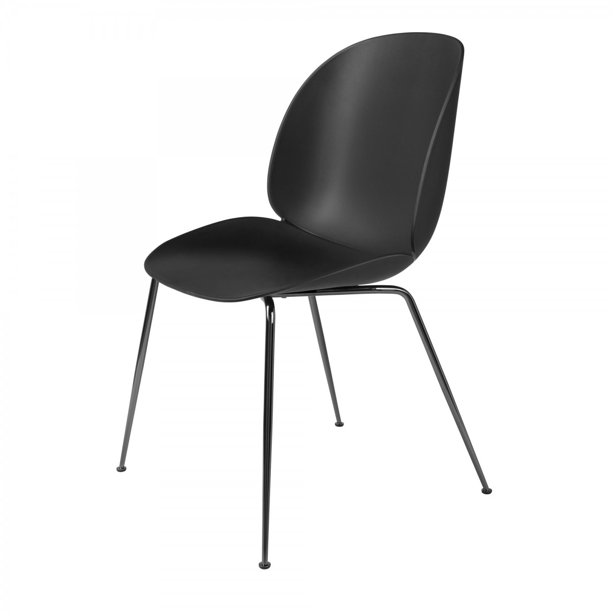 black metal dining chairs. BEETLE Dining Chair - Black \u0026 Metal Chairs I