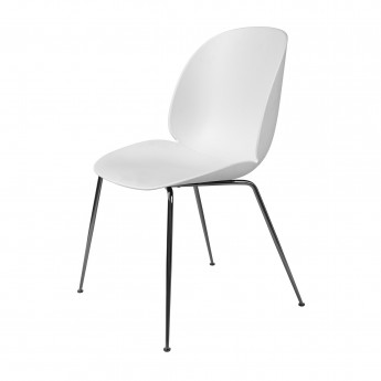 BEETLE dining chair - white & black metal