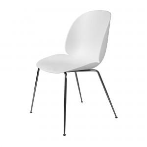 BEETLE dining chair - white & black metal