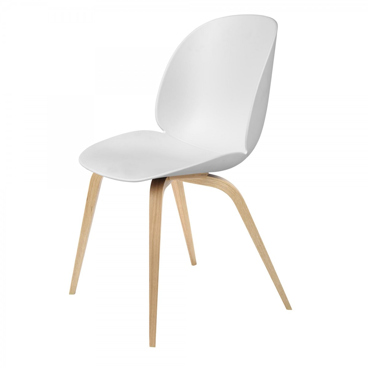 beetle dining chair white oak gubi