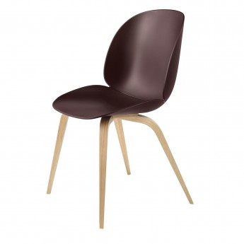 BEETLE dining chair - dark pink & oak