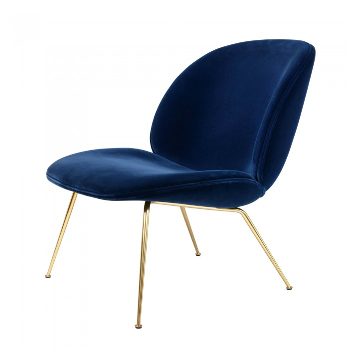 beetle armchair blue velvet - Blue Velvet Chair