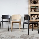 SOFT EDGE chair - wood base