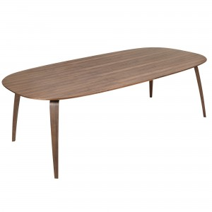 DINING elliptical table walnut