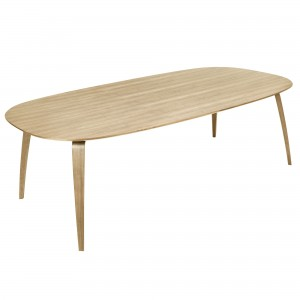 DINING elliptical table oak
