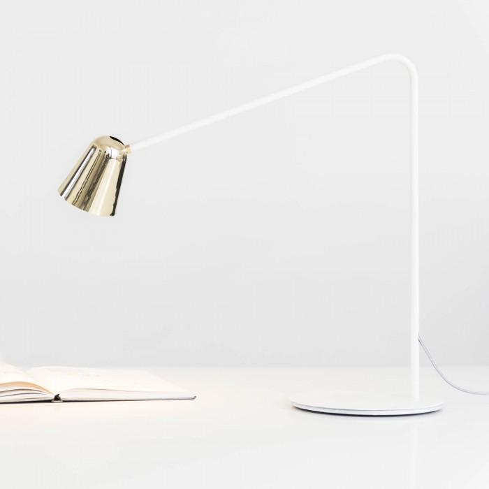 Lampe CHAPLIN blanc/laiton