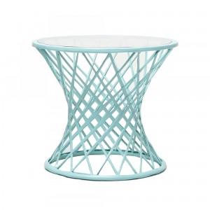 Table basse QUARANTINE turquoise