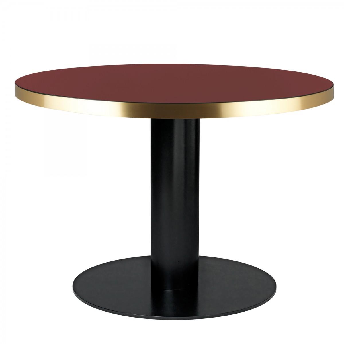 table dining 2 0 ronde en verre rouge cerise gubi. Black Bedroom Furniture Sets. Home Design Ideas