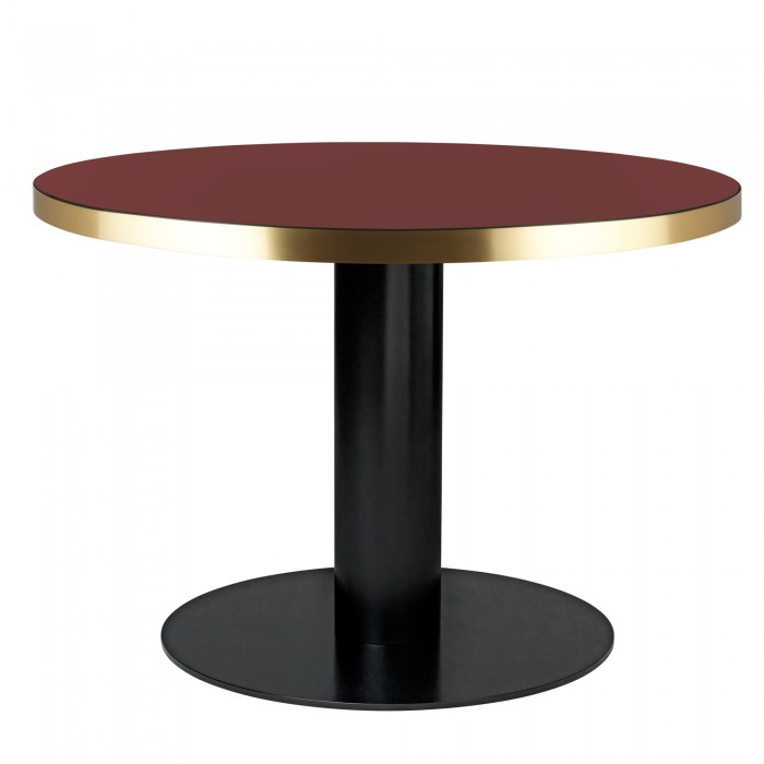 Table DINING 2.0 ronde en verre, rouge cerise Gubi