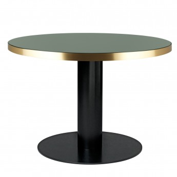 DINING 2.0 table glass round bottle green Gubi