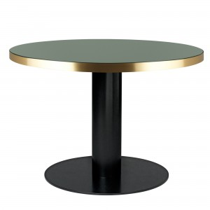 Table DINING 2.0 ronde vert bouteille