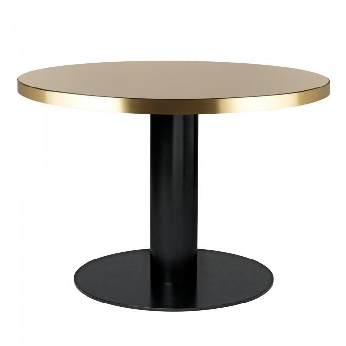 Table DINING 2.0 ronde en verre, sable Gubi