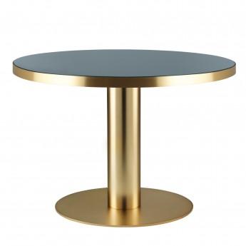 DINING 2.0 brass table round granite grey