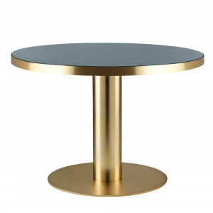 Table DINING 2.0 laiton et gris granite