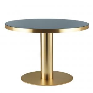 Table DINING 2.0 laiton et gris granite