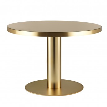 Table DINING 2.0 laiton ronde sable