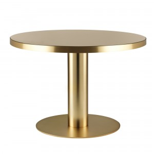DINING 2.0 round brass and sand