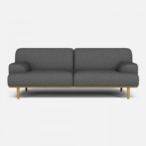 MADISON sofa 2 seats 1/2 Nantes Blue grey