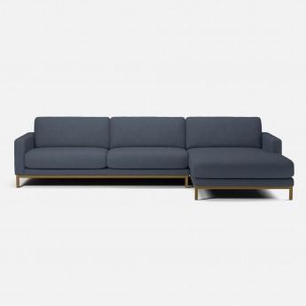 Canapé NORTH 3 places avec chaise longue - Mode blue