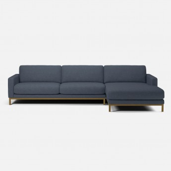 NORTH sofa 3 seaters with chaise longue - Mode blue