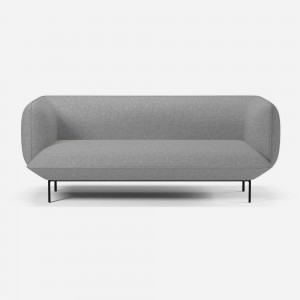 CLOUD sofa 2 seats 1/2 Nantes light grey