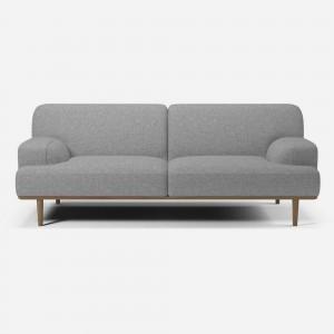 MADISON sofa 2 seats 1/2 Nantes light grey