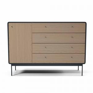 AMBER dresser L anthracite/oak