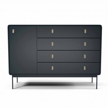 AMBER dresser L anthracite/leather