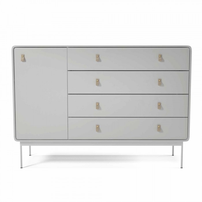 AMBER dresser L white/leather