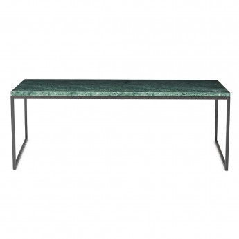 Coffee table COMO L green marble