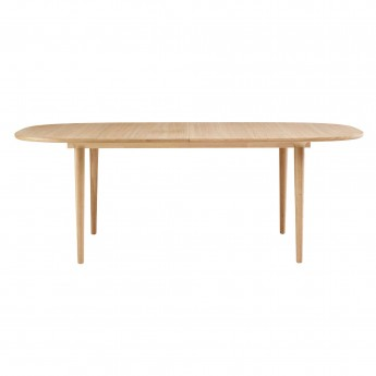 YACHT Dining table white pigmented oak